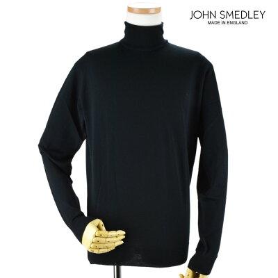 ジョンスメドレー JOHN SMEDLEY cherwell-black CHERWELL チャーウェル ハイネック ニット セーター ウール メンズ ブラック BLACK 黒【送料無料】