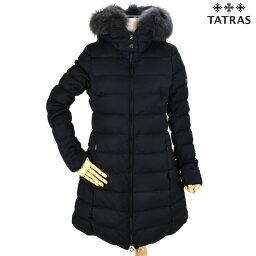 タトラス タトラス TATRAS LTA20A4571 LAVIAN BLACK ラビアナ ウールミドル丈 ダウンコート ダウンジャケット ファー付き ブラック 黒 レディース【送料無料】
