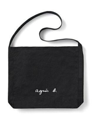 アニエスべー バッグ ショルダーバッグ ロゴ ブラック agnes b アニエス ベー ボヤージュ