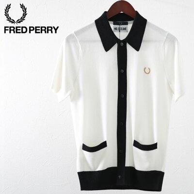 フレッドペリー メンズ ポロシャツ ポロ ニットシャツ ボタンスルー マイルズ・ケイン Fred Perry 19SS 新作 スノーホワイト 正規販売店 プレゼント ギフト