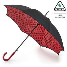 フルトン フルトン x ルルギネス 傘 Lulu Guinness x FULTON コラボ ブルームズベリー リップスグリッド 長傘 レディース プレゼント ギフト