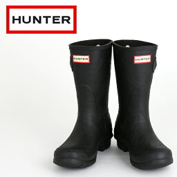 ハンター セール SALE 【ハンター HUNTER レインブーツ】 国内正規品 長靴 オリジナル ショート ウェーブ テクスチャー レディース