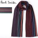 ポールスミス マフラー(メンズ) PAUL SMITH メンズ マフラー ポールスミス スカーフ シルク ウール ミックス パネル ジャガード 2色 バーガンディ ネイビー モッズファッション イタリア製 プレゼント ギフト