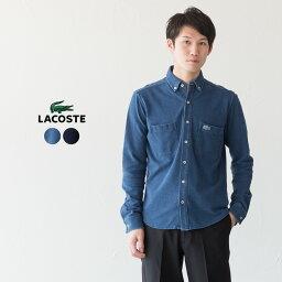 ラコステ ラコステ インディゴ ピケ 鹿の子 ボタンダウンシャツ PH551EM