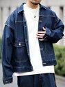 コーエン ルームウェア メンズ [Rakuten Fashion]【SALE/30%OFF】【WEB限定】スーパービッグシルエットデニムジャケット(セットアップ対応)(Gジャン)# coen コーエン コート/ジャケット デニムジャケット ネイビー【RBA_E】【送料無料】