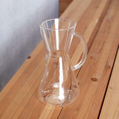 ケメックス(CHEMEX) ガラスハンドル コーヒーメーカー3カップ用 箱入り(コーヒーメーカー)
