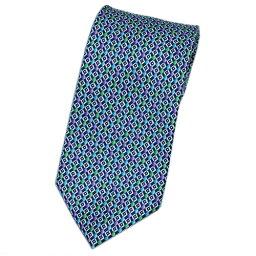 ブルガリ ネクタイ ポイント5倍以上! ブルガリ ネクタイ 240988 メンズ プリント デザイン ネイビー/パープル/グリーン 紙袋付き