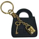 ドルガバ キーホルダー(レディース) ポイント5倍以上! ドルチェ&ガッバーナ キーリング BI0545 DOLCE&GABBANA キーホルダー バッグモチーフ+パドロック カーフブラック ゴールド金具 わけあり アウトレット