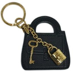 ドルガバ キーホルダー(レディース) ドルチェ&ガッバーナ キーリング BI0545 DOLCE&GABBANA キーホルダー バッグモチーフ+パドロック カーフブラック ゴールド金具 わけあり アウトレット