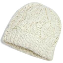 エルメス エルメス 帽子 H148500HB92 HERMES ソルド レディース ニットキャップ カシミア100% CHAINE D' ANCRE CRAIE クレ チョークホワイト Mサイズ