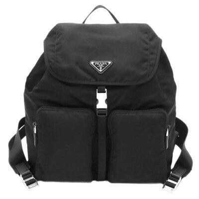 プラダ バッグ 1BZ005 リュックサック 2ポケット TESSUTO NERO ネロ ナイロンブラック アウトレット あす楽対応