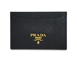 プラダ 名刺入れ プラダ カードケース 1MC208 シンプル名刺入れ GLロゴ サッフィアーノ ネロ カーフブラック