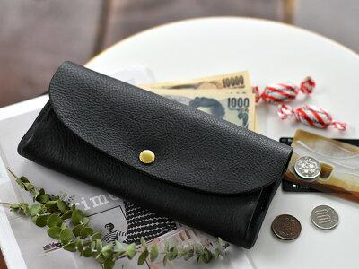 【最大1000円クーポン配布中】 サンク 長財布 レザー ブラック ダークブラウン キャメル