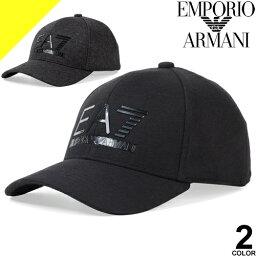 アルマーニ エンポリオアルマーニ キャップ 帽子 メンズ ベースボールキャップ スナップバックキャップ ブランド 大きいサイズ 黒 ブラック EMPORIO ARMANI EA7 275889 9A503