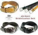 ホワイトハウスコックス ビジネスベルト メンズ (ホワイトハウスコックス) Whitehouse Cox #B-8665 BridleLeather Belt(ブライドルレザーベルト/牛革/Dress Belt/幅28mm/英国製/真鍮製バックル/男女兼用/ビジネス/カジュアル/本革/ギフト/ブラウン/ブラック/取り寄せ可/送料無料)