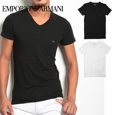 エンポリオ アルマーニ Tシャツ メンズ 半袖 Vネック STRETCH COTTON ブランド ファッション トップス 誕生日プレゼント 彼氏 父 ギフト