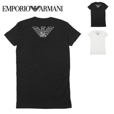 エンポリオ アルマーニ Tシャツ メンズ 半袖 Vネック トップス カットソー 無地 ロゴ イーグル ワンポイント EA STRETCH COTTON EAGLE EMPORIO ARMANI プチギフト 誕生日プレゼント 彼氏 父 男性 旦那 ギフト 送料無料