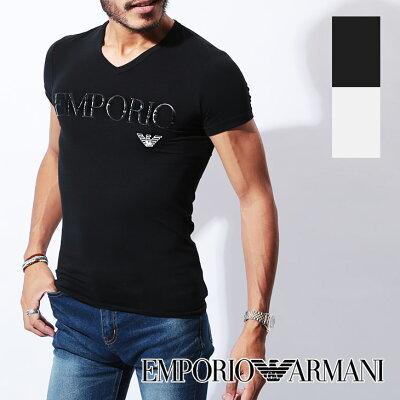 エンポリオ アルマーニ Tシャツ メンズ Vネック 半袖 SLEEVE イーグル ロゴ ブランド EMPORIO ARMANI プチギフト 誕生日プレゼント 彼氏 父 男性 旦那 ギフト 送料無料