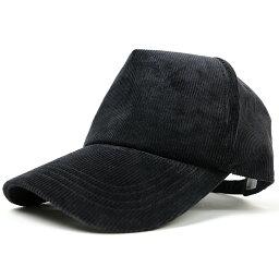 ビッグワッチ 大きいサイズ メンズ 帽子 L XL コーデュロイ キャップ BIGWATCH 黒 オールブラック ビッグサイズ ビッグワッチ 春 夏 秋 UVケア