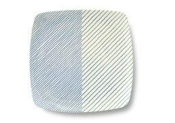 白山陶器 1,000円OFFクーポン配布中◆白山陶器 重ね縞 反角多用皿 【角皿 グッドデザイン賞受賞】 【クッチーナ】