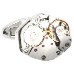 カフス 時計 カフス カフスボタン スチームパンク フレームレス 時計ムーブメント カフリンクスメンズアクセサリーの通販ギフト プレゼント お祝い 結婚式 ビジネス 新生活 父の日 彼氏 夫