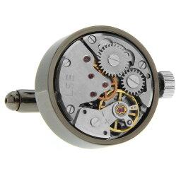カフス 時計 カフス カフスボタン スティームパンク ガンメタル 時計ムーブメント カフリンクスメンズアクセサリーの通販ギフト プレゼント お祝い 結婚式 ビジネス 新生活 父の日 彼氏 夫