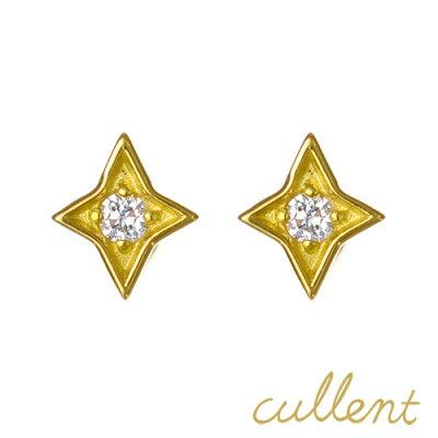 K18 ダイヤモンド ピアス twinkle ピアス 18金 18k ダイヤモンド ダイヤ レディース ジュエリー アクセサリー おしゃれ 1粒 星 ニッケルフリー 金属アレルギー ノンアレルギー