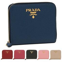プラダ 二つ折り財布 レディース 【返品OK】プラダ 二つ折り財布 サフィアーノ ミニ財布 レディース PRADA 1ML036 QWA