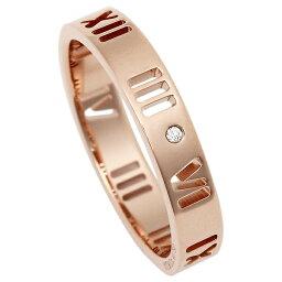 ティファニー アトラス 指輪(レディース) 【返品OK】ティファニー リング アクセサリー アトラス ダイヤモンド 18K 指輪 ローズゴールド