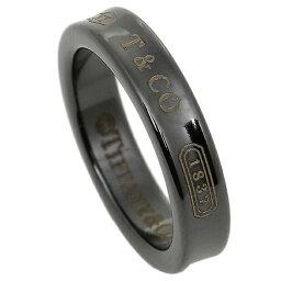 ティファニー 1837記念 指輪(レディース) 【返品OK】ティファニー リング アクセサリー TIFFANY&Co. 1837 ナローリング NARROW RING ミッドナイト MIDNIGHT ブラックチタン 指輪