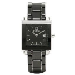 フェンディ フェンディ 時計 レディース FENDI F621110 クアドロ 腕時計 ウォッチ ブラック