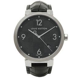 ルイ ルイヴィトン 腕時計(メンズ) ルイヴィトン 時計 メンズ LOUIS VUITTON Q1D002 タンブールダミエ 腕時計 ウォッチ ブラック