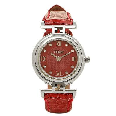 フェンディ 時計 レディース FENDI F271277D モーダ MODA 腕時計 ウォッチ レッド/シルバー