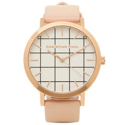 【4時間限定ポイント10倍】クリスチャンポール 腕時計 CHRISTIAN PAUL GRL-02 ピーチ ローズゴールド