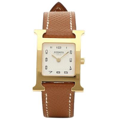 エルメス 腕時計 HERMES HH1.201.131/UGO W036732WW00 ブラウン レディース ホワイト イエローゴールド