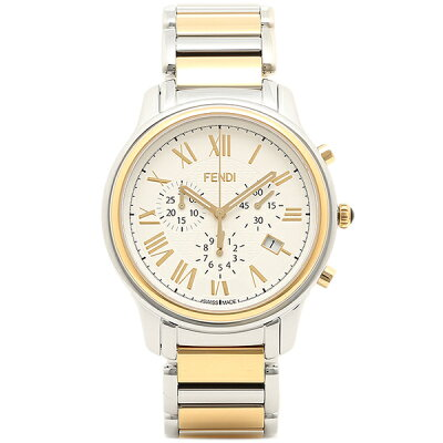 フェンディ 腕時計 レディース FENDI F252114000 ホワイト シルバー ゴールド