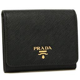 プラダ 財布(レディース) プラダ 折財布 レディース PRADA 1MH176 QWA F0002 ブラック