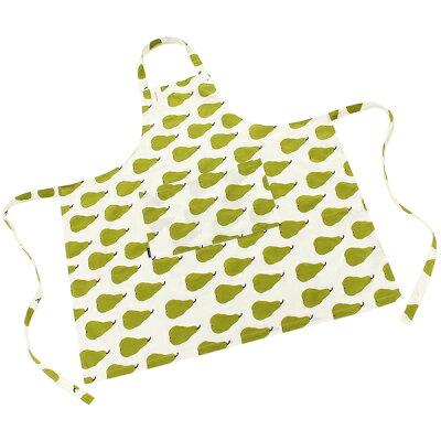 マリメッコ エプロン レディース MARIMEKKO 069053 160 ホワイト グリーン