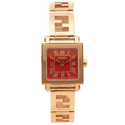 フェンディ 腕時計 レディース FENDI F605527200D レッド ピンクゴールド