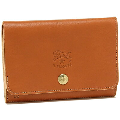 【26時間限定ポイント5倍】イルビゾンテ 折財布 レディース IL BISONTE C0521P 145 キャラメル