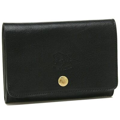 【26時間限定ポイント5倍】イルビゾンテ 折財布 レディース IL BISONTE C0521P 153 ブラック