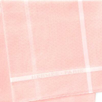 【エントリーポイント10倍】HERMES エルメスハンカチ H161014G-09 チーフ ピンク ローズクレール ブルー グレー ジャカード ドゥ H【新品・未使用・正規品】