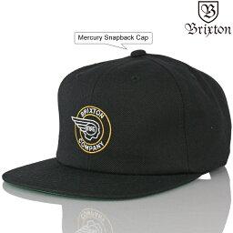 ブリクストン Brixton ブリクストン Mercury Snapback Cap (Black/Gold) マーキュリー サーフ スケート ファッション メンズ キャップ 帽子