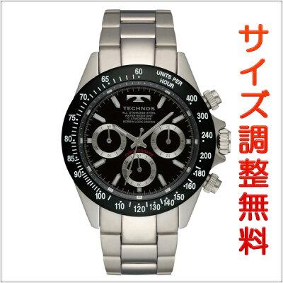 988d7bc3e120 テクノス メンズ 腕時計 TECHNOS TSM401TB クロノグラフ クオーツ ブラック 【お取り寄せ商品】