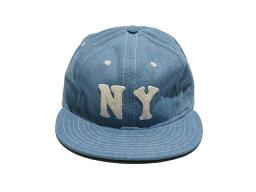 ジェイクルー J.CREW ジェイ.クルー Ebbets Field Flannels for J.Crew New York Black Yankees ball cap  ニューヨーク ブラック ヤンキース ボール キャップ(CHAMBRAY)