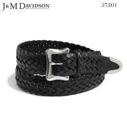 ジェイ&エム デヴィッドソン J&M DAVIDSON メッシュベルト BLACK ブラック エンベロープバックル ティップエンド30mm シンプレート レザー ENVELOPE BUCKLE TIP END 30MM TIN PLATED BELT 57301 9990 黒 ジェイアンドエム デヴィッドソン メンズ 実用的 プレゼントにも