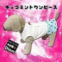 ワンピース 犬服 チョコミントワンピース(超小型犬・猫用)【犬の服2点購入でメール便送料無料】犬の服 ドレス スカート ドッグウェア