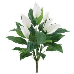 スパティフィラム 《光触媒》 (夏・トロピカル) スパティフィラムブッシュ *5(FLB8020HI)[造花 ブッシュ 束 アートフラワー 光触媒]
