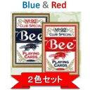 トランプ その他 【トランプ】Bee(ビー)ポーカーサイズ 【レッド・ブルー】【2色セット】 ds-474197