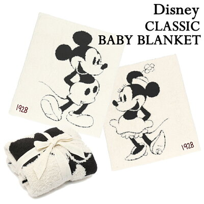 BAREFOOT DREAMS ベアフットドリームス Classic Mickey Mouse Minnie Mouse BABY BLANKET クラシック ミッキーマウス ミニーマウス ブランケット ディズニー 毛布 出産祝い ギフト プレゼント